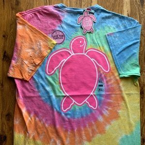 NWT Simply Southern Tie Dye Turtle Tee